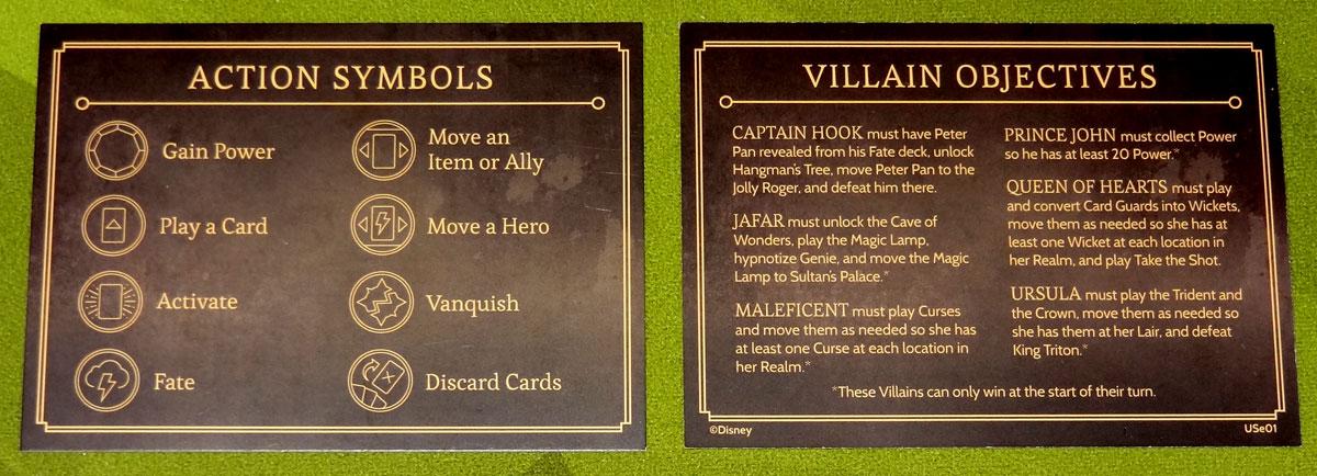 Villainous reference card