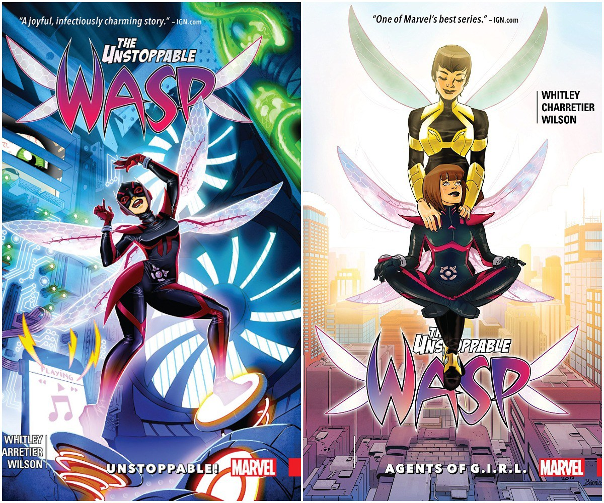 Unstoppable Wasp Volumes 1 and 2 trade paperbacks