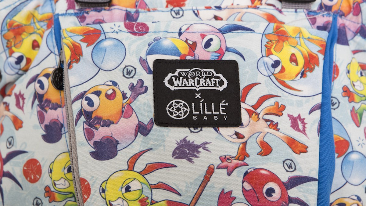 """World of Warcraft murlocs from the """"Cute But Deadly"""" collection now featured on LÍLLÉbaby baby carriers."""