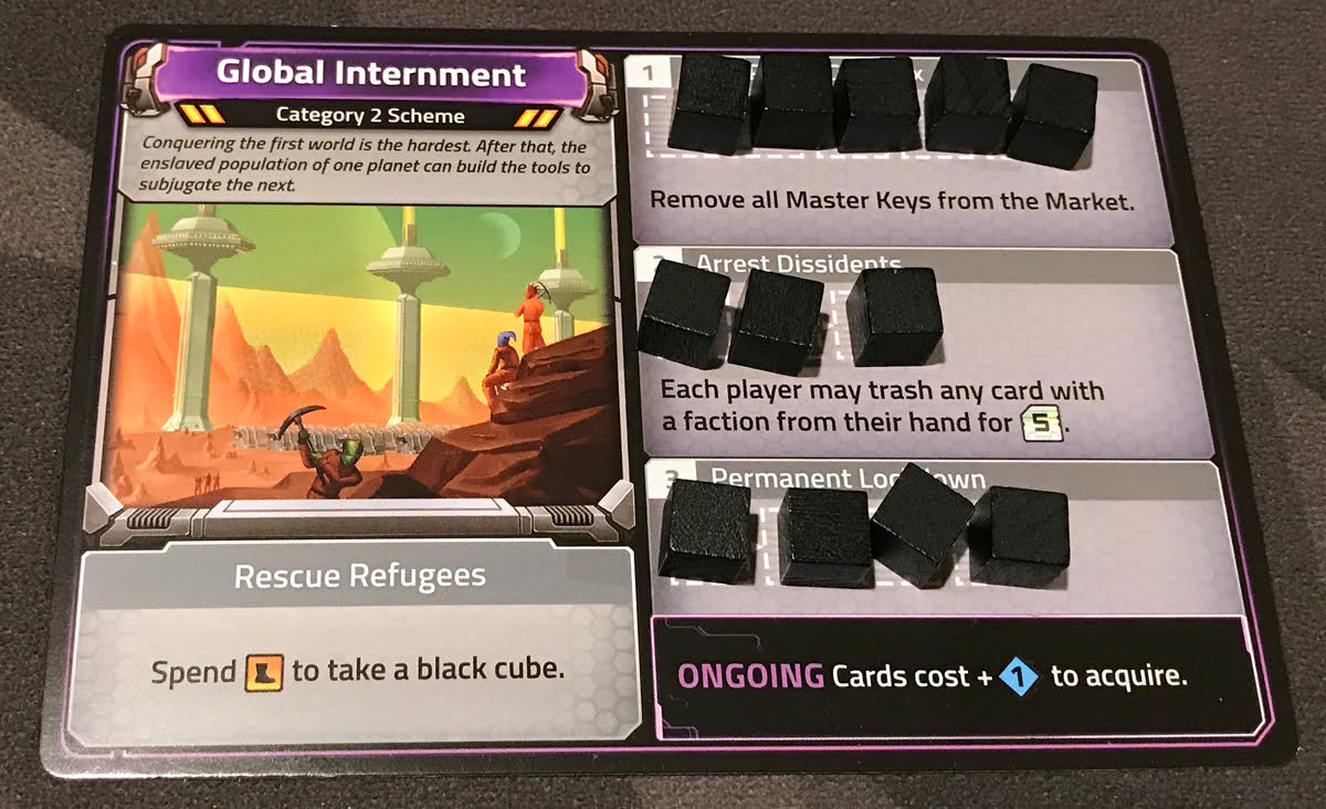 Clank! In! Space! Apocalypse! Global Internment scheme card