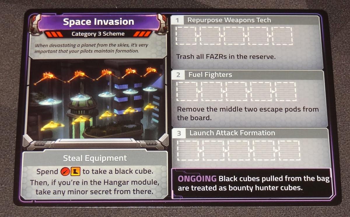 Clank! In! Space! Apocalypse! Space Invasion scheme card
