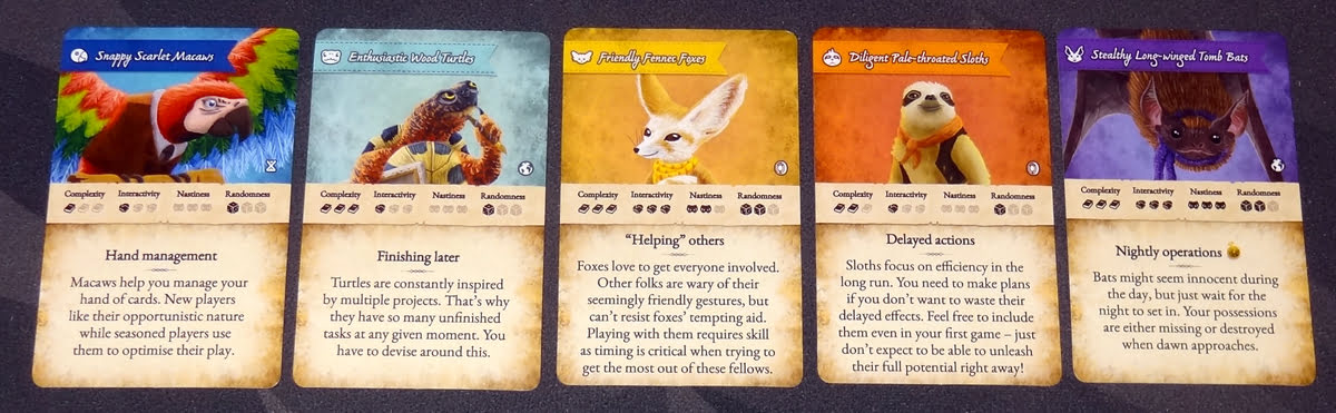 Dale of Merchants deck selection cards