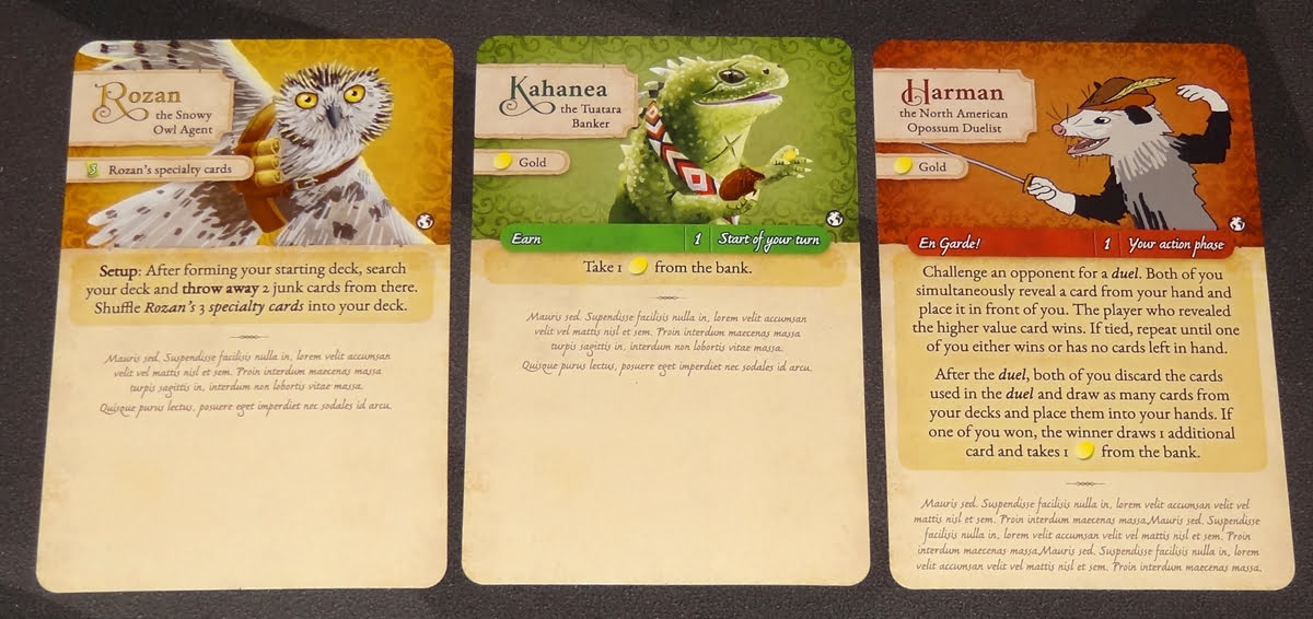 Dale of Merchants character cards