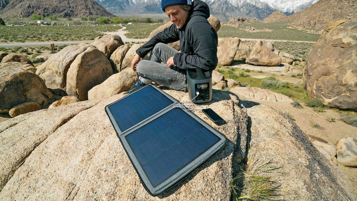 RIVER Mobile Power Station can recharge with available solar panels.