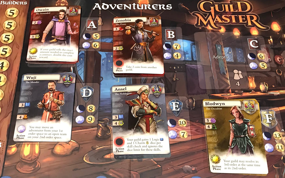 Guild Master Adventurers section