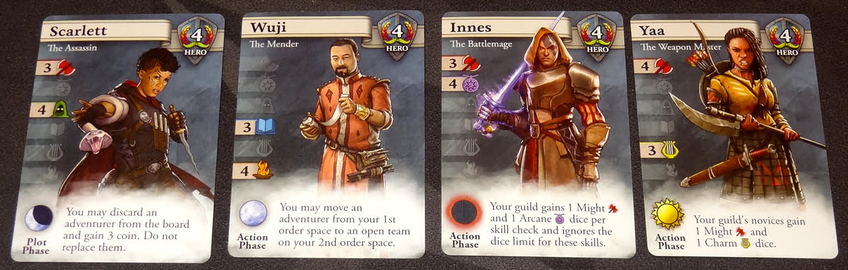 Guild Master Hero cards