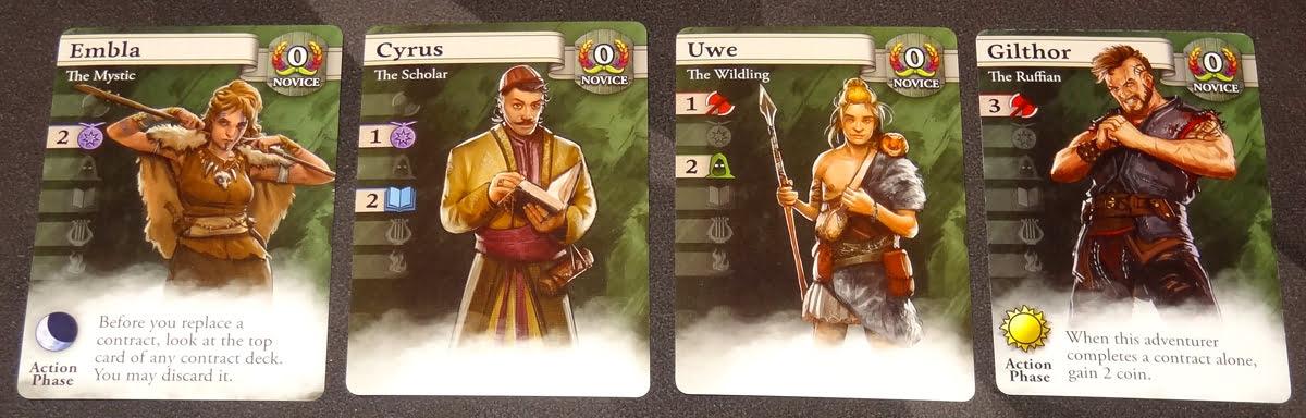 Guild Master Novice Adventurer cards