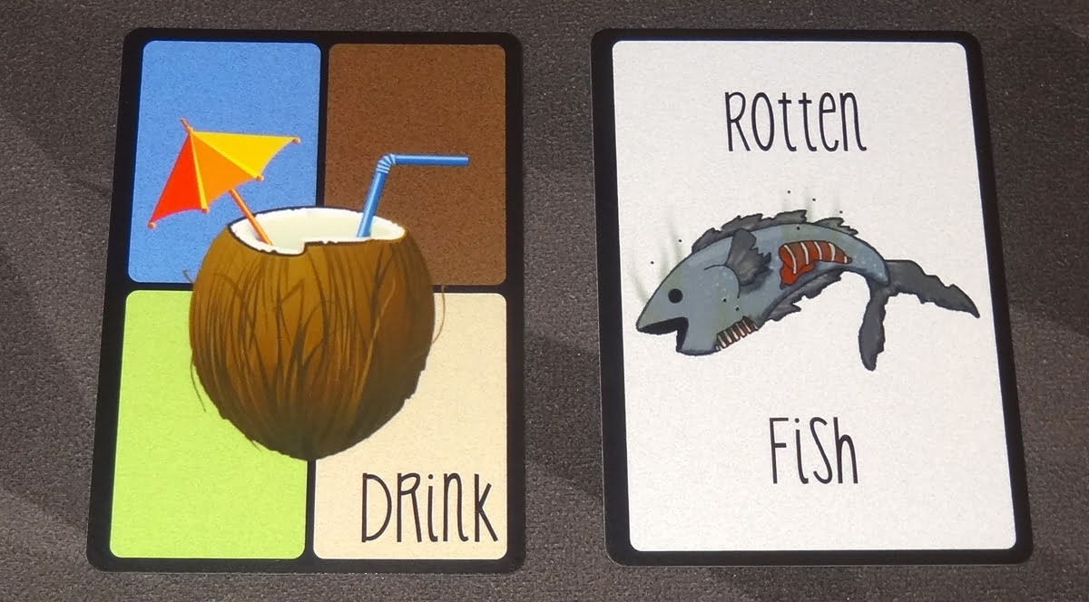 Hippos Love Sushi drink and rotten fish card