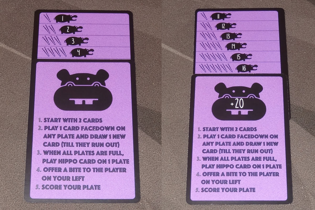 Hippos Love Sushi score cards