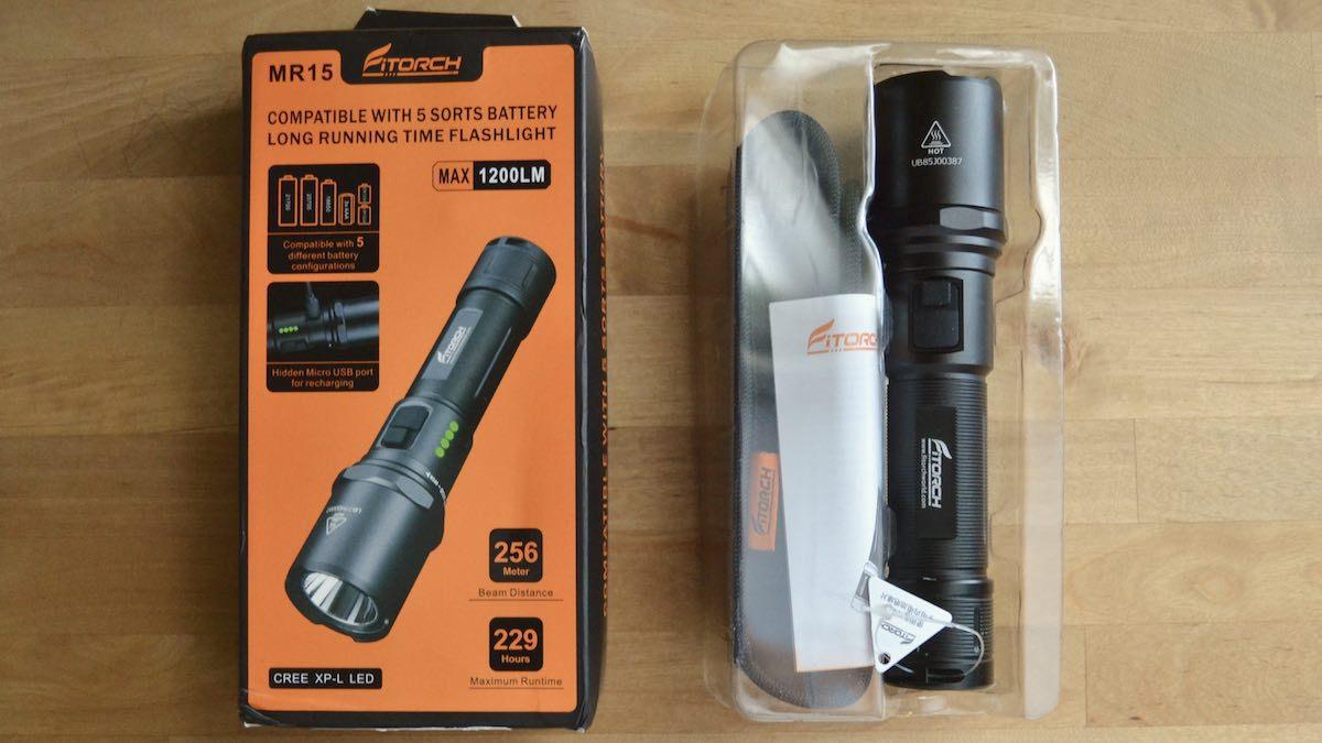 Mitorch MR15 flashlight