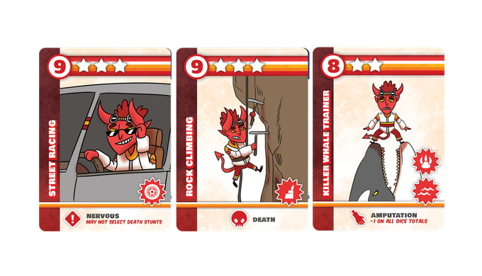 Daredevil stunt cards
