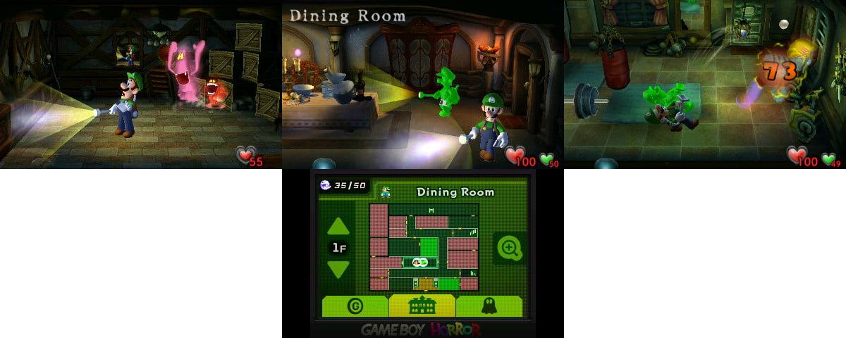 Luigi's Mansion screen shots