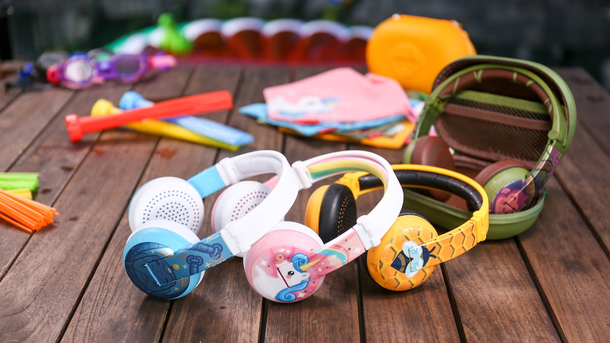 BuddyPhones WAVE headphones are waterproof, feature age-appropriate volume limiting, and awesome designs too.