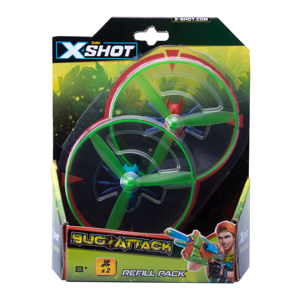 X-Shot Bug attack refill pack
