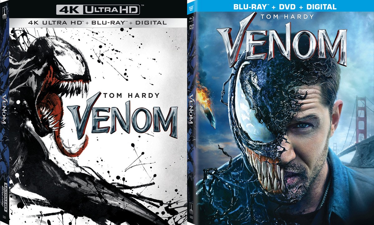 Venom release on Blu-ray and 4k