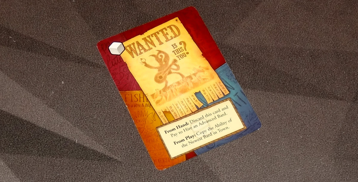 Battle of the Bards Wanted Poster card