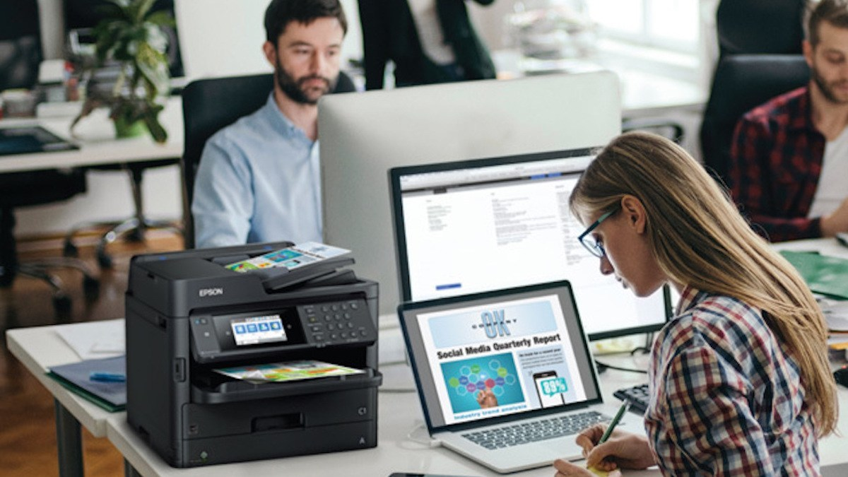 All the power, all the speed, all the functions, none of the ink cartridges - Epson WorkForce Pro ET-8700 EcoTank All-in-One.