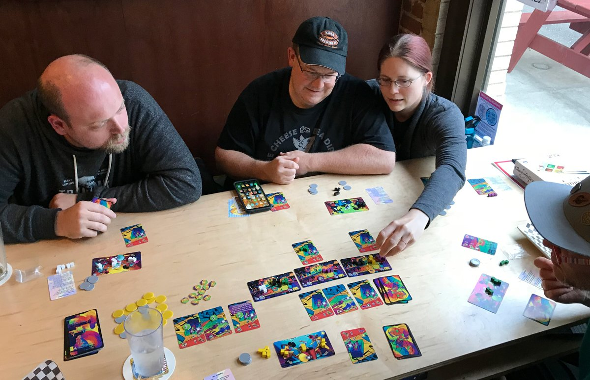 Playing Big Easy Busking at Game Knight Lounge