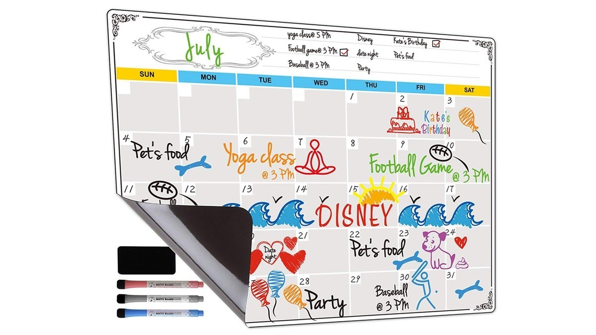 Geek Daily Deals 050219 magnetic dry erase calendar