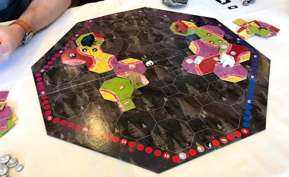 Mammoth game in progress