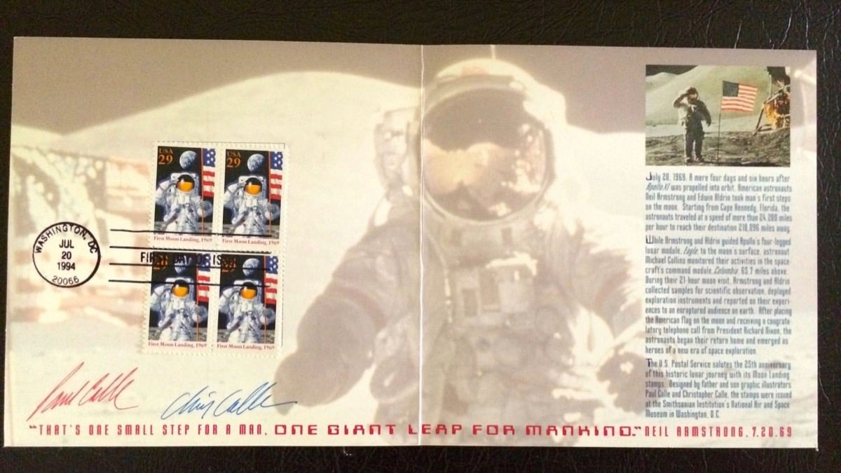 Apollo 25 year stamps and Buzz