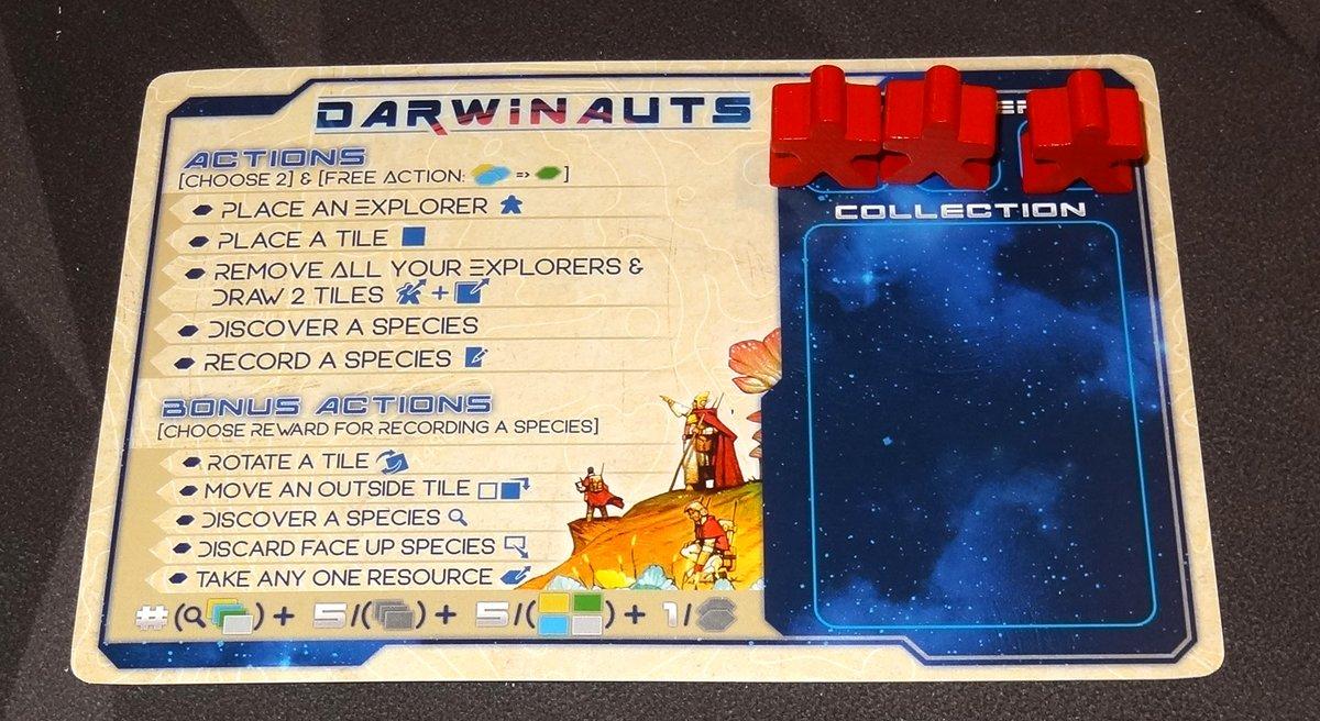 Darwinauts player board