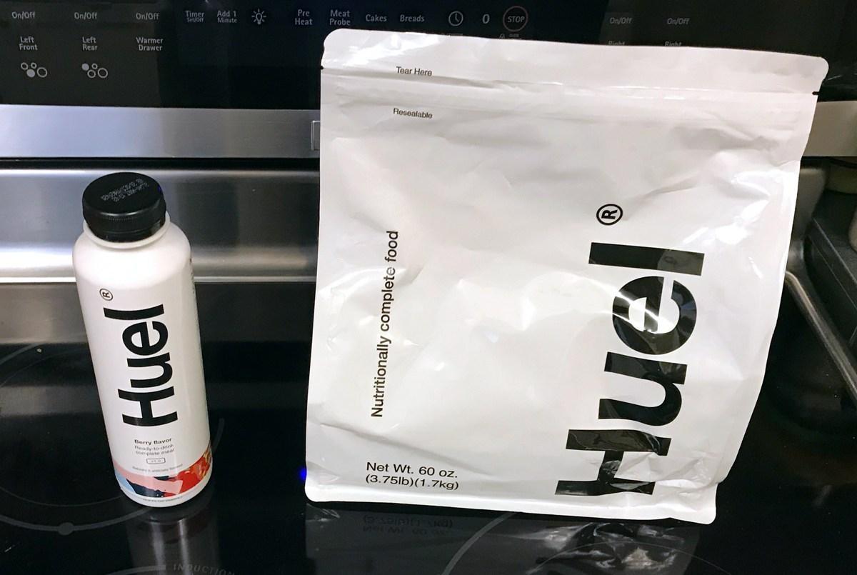 Huel bottle and powder