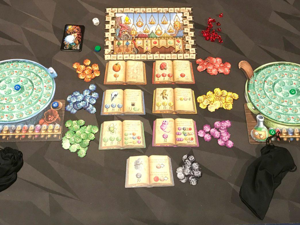 The Quacks of Quedlinburg 2-player setup