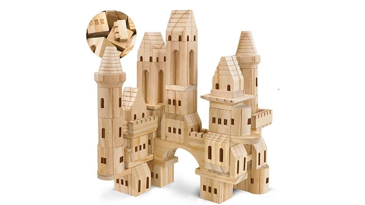 Geek Daily Deals 071219 wooden castle blocks