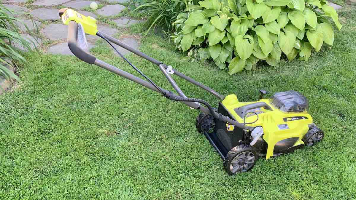 Ryobi 18V One+ 16-inch lawn mower review