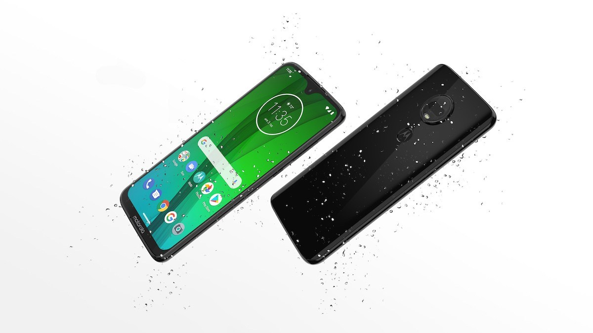 The moto g7 phones are water resistant, inside and out.