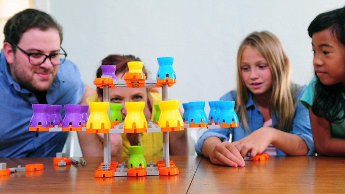Up to four can play the basic Gridopolis 3D Strategy Game and System.