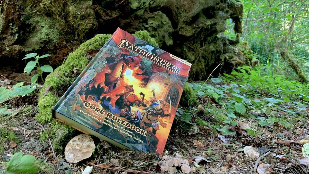 Pathfinder 2E Core Rulebook in the Redwoods