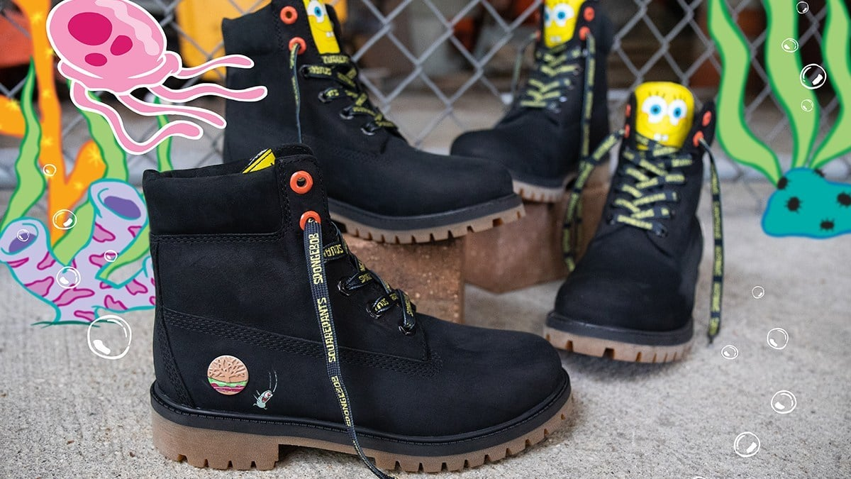 SpongeBob SquarePants X Timberland 6-Inch Waterproof Boots