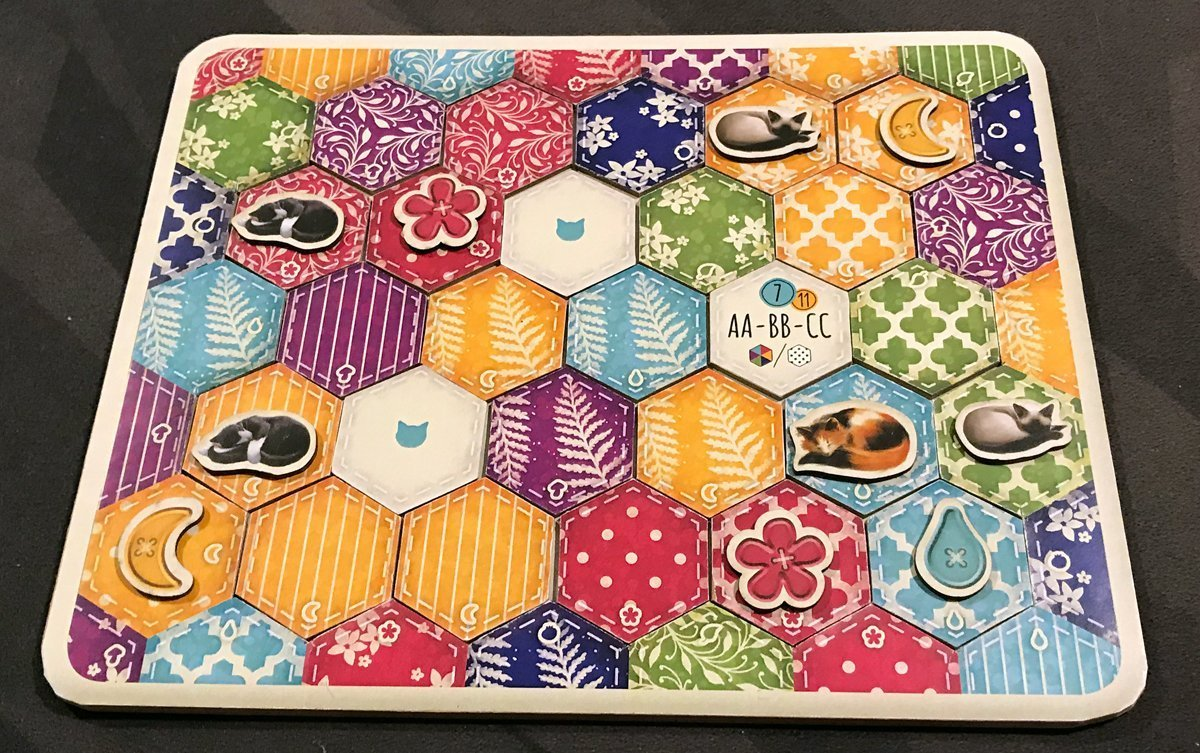 Calico completed quilt