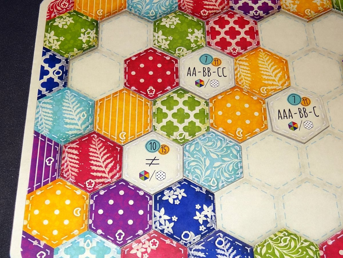 Calico board with goal tiles