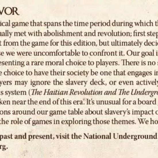 Endeavor: note on slavery