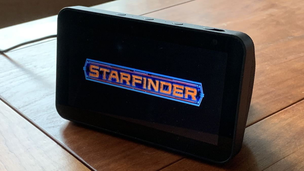 Echo Show 5 Playing Starfinder Skill
