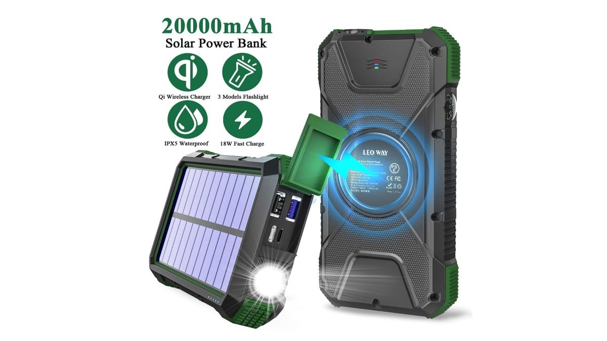 Geek Daily Deals 013120 solar power bank charger