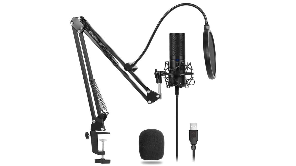 Geek Daily Deals 021720 cardioid USB mic and stand