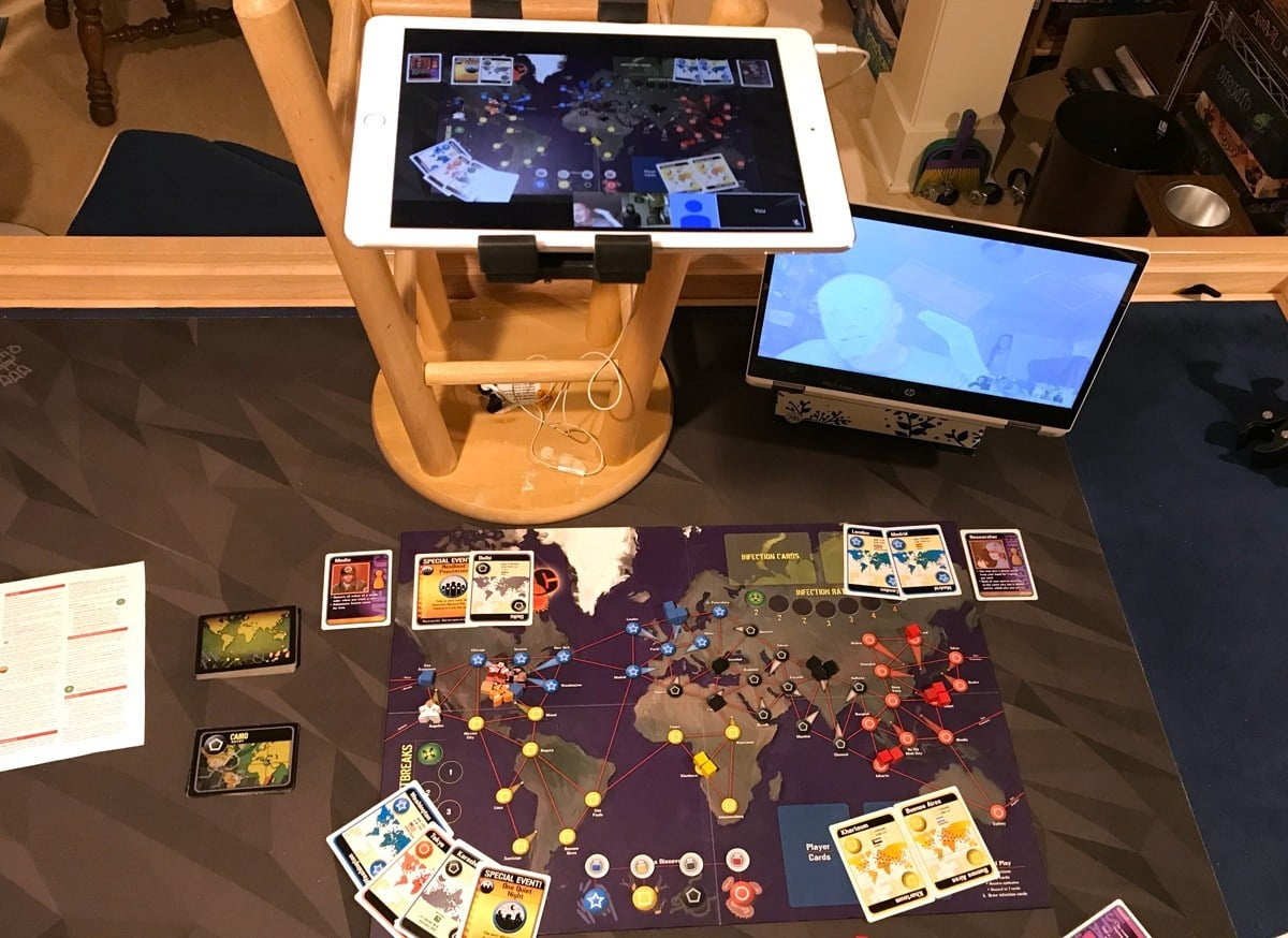 Playing Pandemic over Google Hangouts
