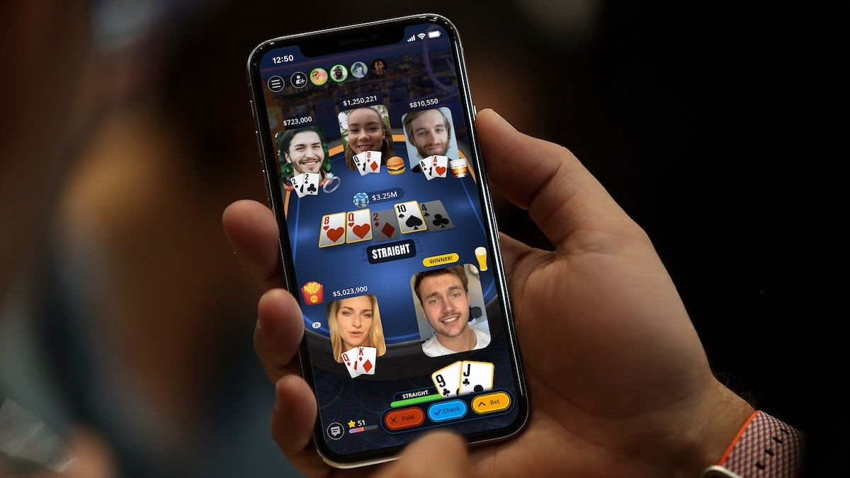 PokerFace app is Texas Hold'em Poker with video chat.