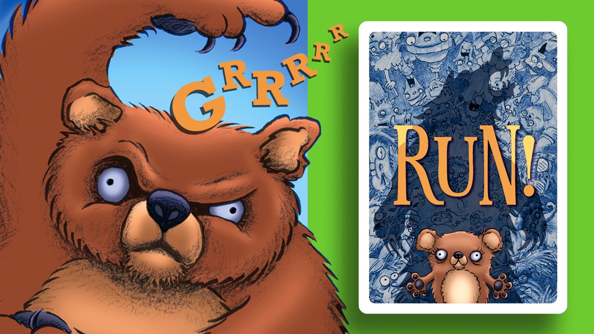 Run! the card game mama bear and back of card