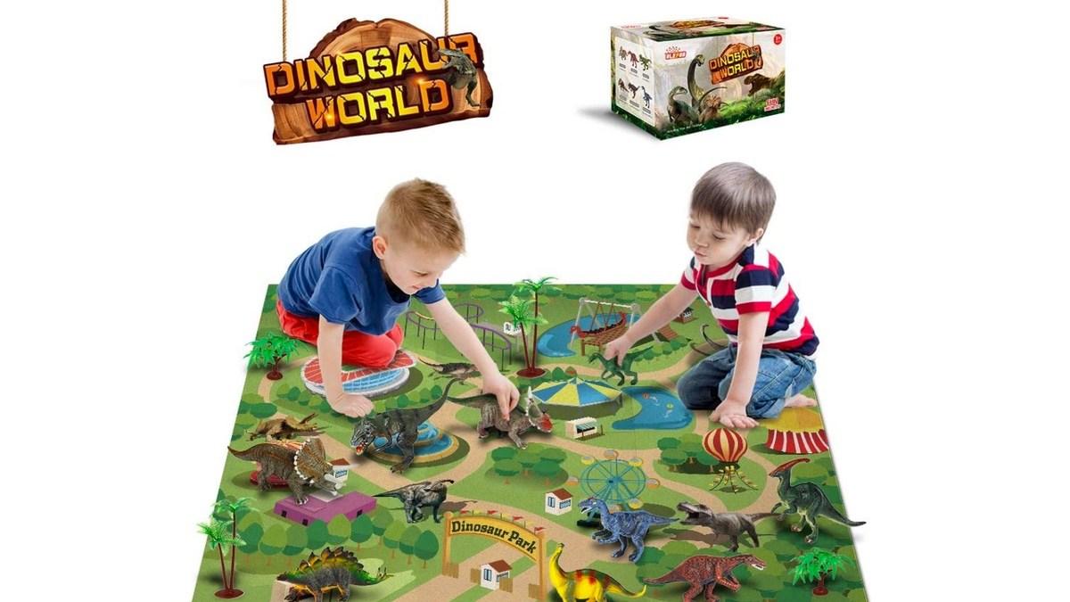 Geek Daily Deals 04182 dinosaur world play set