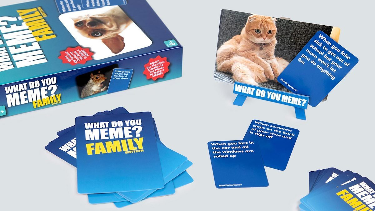 The 'What Do You Meme? Family Edition' is social media inspired fun the kids can participate in.