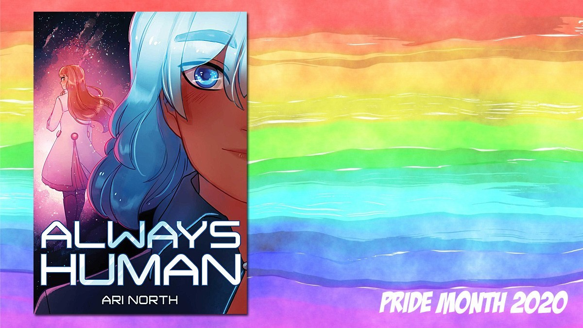 Pride Month Always Human, Background Image by Prawny from Pixabay, Cover Image Little Bee Books