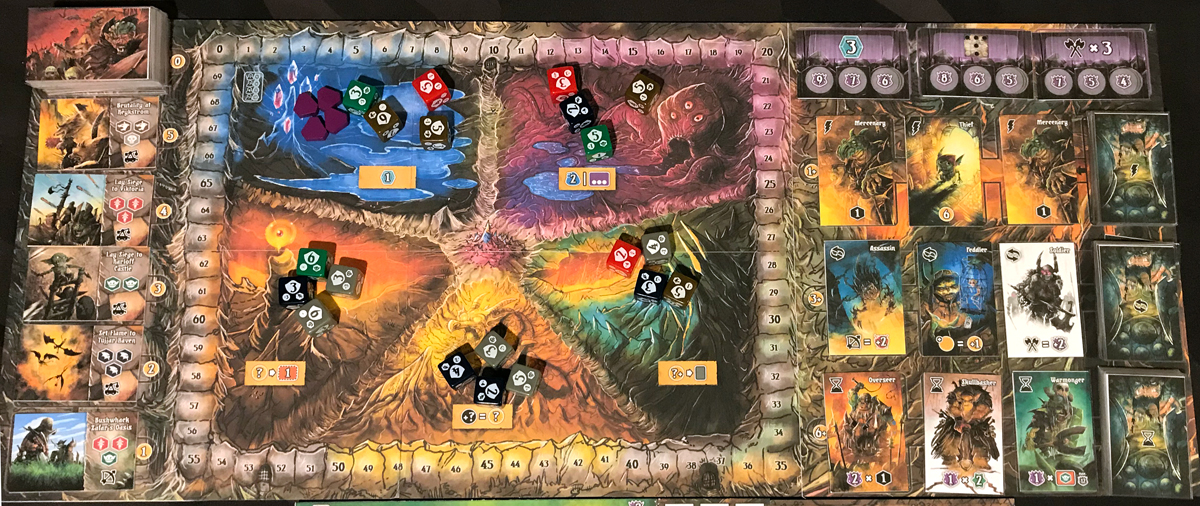 Shadow Kingdoms of Valeria 2-player setup