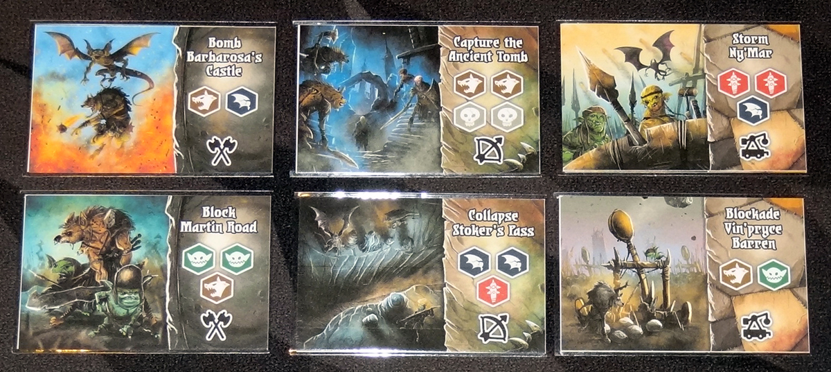 Shadow Kingdoms of Valeria battle plan cards