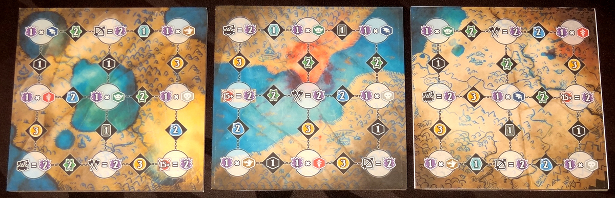 Shadow Kingdoms of Valeria campaign map boards