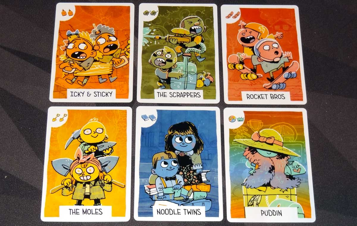 Fort double-icon kid cards